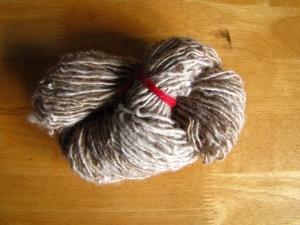 Gesponnen wol van een Solognote